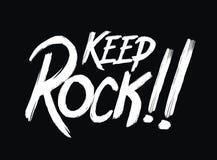 La tipografía guarda la roca Fotos de archivo