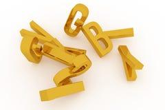 La tipografia astratta del cgi, carattere alfabetico rappresenta la lettera di ABC Carta da parati per progettazione grafica illustrazione vettoriale