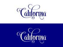 La tipografia Di U.S.A. la California indica l'illustrazione scritta a mano sul funzionario U S Colori dello stato Illustrazione Vettoriale