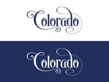 La tipografia Di U.S.A. Colorado indica l'illustrazione scritta a mano sul funzionario U S Colori dello stato Royalty Illustrazione gratis