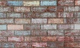La tiza adornó la pared de ladrillo Imagen de archivo libre de regalías
