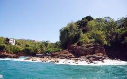 La Toc海滩-圣卢西亚 免版税图库摄影
