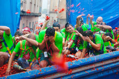 La Tomatina festival Royalty Free Stock Photos