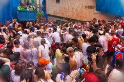 La Tomatina festival Stock Images