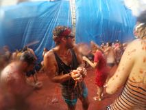 La tomatina. stock photos