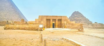 La tomba antica di mastaba nel complesso di Giza, Egitto fotografia stock libera da diritti