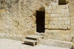 La tomba del giardino a Gerusalemme Israele fotografia stock libera da diritti