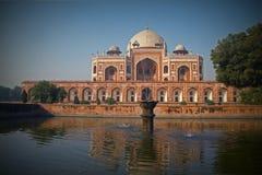 La tomba di Humayun, Hazrat Nzamuddin Nuova Delhi immagine stock