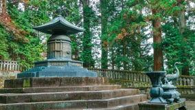 La tomba di Tokugawa Ieyasu nel santuario di Tosho-Gu a Nikko, Giappone fotografie stock