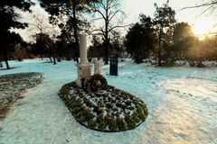 La tomba di Wolfgang Amadeus Mozart Immagini Stock Libere da Diritti