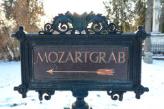 La tomba di Wolfgang Amadeus Mozart Fotografie Stock