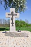 La tomba nel monastero di medio evo fotografia stock