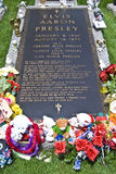 La tombe d'Elvis Presley, Graceland, TN Photographie stock libre de droits