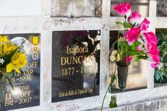 La tombe d'Isadora Duncan photos libres de droits