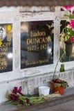 La tombe d'Isadora Duncan photos stock