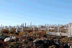 La tombe dans Ilulissat, Pôle Nord, Groenland Images libres de droits
