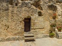 La tombe de jardin, tombe de roche à Jérusalem, Israël image stock