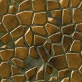La tonalità naturale ha colorato il fondo senza cuciture con malta liquida grigia - beige di mosaico del pavimento di struttura p Fotografia Stock