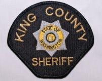 La toppa di spalla del re County Sheriff Department a Washington immagini stock