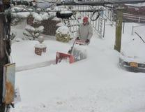 La tormenta de la nieve Juno Foto de archivo
