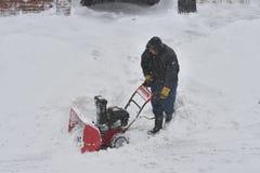La tormenta de la nieve Juno Imágenes de archivo libres de regalías