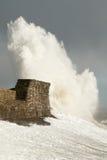 La tormenta Doris golpea Porthcawl, el Sur de Gales, Reino Unido Fotografía de archivo libre de regalías