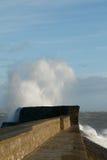 La tormenta Doris golpea Porthcawl, el Sur de Gales, Reino Unido Imágenes de archivo libres de regalías