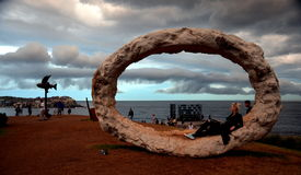 La tormenta ocurrió sobre Sydney durante la exposición pública Imagen de archivo libre de regalías