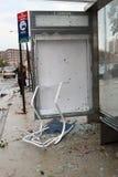 La tornade heurte New York City le 16 septembre 2010 Image stock