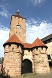 La torre bianca a Norimberga Immagine Stock