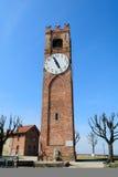 La torre cívica de Mondovi alta Imagenes de archivo