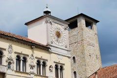 La torre civica di Belluno Immagini Stock