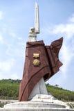 La torre conmemorativa en la guerra de liberación de la patria Martyrs el cementerio Pyongyang, DPRK - Corea del Norte  Foto de archivo libre de regalías