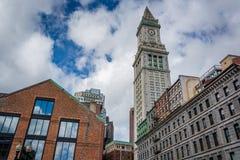 La torre de aduanas, en Boston, Massachusetts Imágenes de archivo libres de regalías
