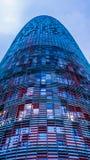La torre de Agbar, Barcelona, España Foto de archivo