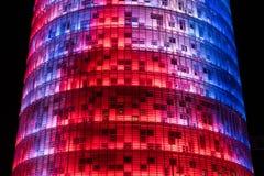 La torre de Agbar de las glorias de Torre de Barcelona imágenes de archivo libres de regalías