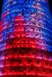 La torre de Agbar de las glorias de Torre de Barcelona foto de archivo libre de regalías