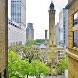 La torre de agua de Chicago Imagen de archivo libre de regalías