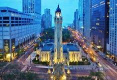 La torre de agua de Chicago Imagenes de archivo