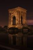 La torre de agua histórica en el Peyrou, Montpellier, Francia Imágenes de archivo libres de regalías
