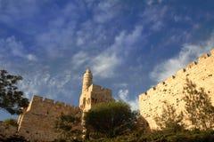 La torre de David (ciudadela) de David, Jerusalén Imagenes de archivo