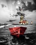 La torre de la doncella en Estambul Turquía fotografía de archivo
