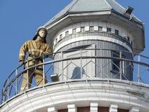 La torre de fuego en Omsk Imagen de archivo libre de regalías