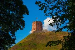 La torre de Gediminas Foto de archivo libre de regalías