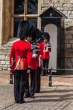 La torre de guardias de Londres Fotografía de archivo libre de regalías