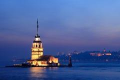 La torre de la doncella en Estambul fotos de archivo libres de regalías