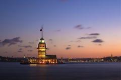 La torre de la doncella (Estambul) Imagen de archivo