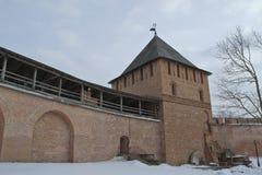 La torre de la pared de la fortaleza Foto de archivo