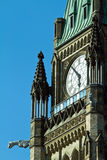 La torre de la paz en la colina del parlamento, Ottawa, Ontari Imagenes de archivo