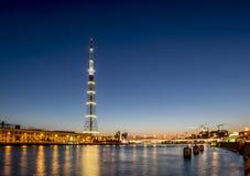 La torre de la TV de la transmisión Cente de Leningrad Radiotelevision Imagenes de archivo